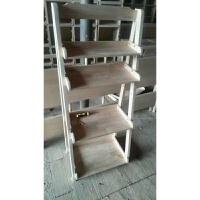 实木书架梯形置物架卧室客厅浴室简约落地层板储物架创意阳台花架