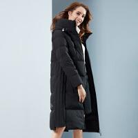 坦博尔羽绒服女长款连帽修身时尚2018秋冬新品保暖外套女TB18780