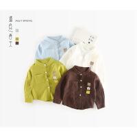 2018春装新款儿童装男童长袖白衬衫女童立领纯棉衬衣韩版宝宝小童