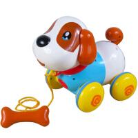 盈佳儿童智能电动机器狗感应对话狗拉线狗牵绳宠物小狗玩具拖拉狗