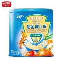 亨氏超金健儿优益生元混合水果婴儿营养米粉450g罐装1段 内置量勺