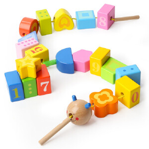 [当当自营]TOPBRIGHT 特宝儿毛毛虫数学认知启蒙串珠玩具7715