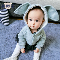宝宝衣服秋季0岁7月童上衣新生儿外套秋冬装婴儿加厚外出服