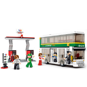 【当当自营】小鲁班模拟城市系列儿童益智拼装积木玩具 双层巴士M38-B0331