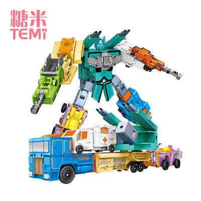 数字合体变形玩具金刚机器人男孩汽车全套装字母0-9儿童3-6周7岁8