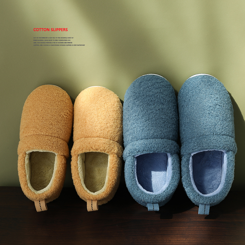 时尚包跟棉拖鞋女老人室内家用秋冬季防滑加厚底保暖带后跟月子鞋产后 品质保证 售后无忧