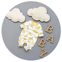 婴儿衣服春秋夏纯棉新生儿长袖卡通0-3-6-9个月男女宝宝睡衣哈衣
