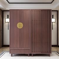大洋家具新中式实木床禅意双人床床头柜衣柜架卧室样板房成套婚床 1500mm*2000mm 框架结构