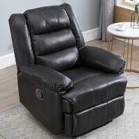 头等太空单人舱沙发布艺多功能组合懒人摇椅电动按摩美甲美睫躺椅 深棕色- 透气 纳米皮