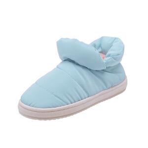 O'SHELL法国欧希尔新品冬季113-M81520女款韩版羽绒布平跟男女情侣雪地靴