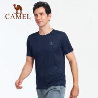 camel骆驼户外速干T恤男女春夏健身运动短袖男吸汗透气体恤圆领速干衣