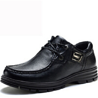 豪登奴商务休闲男鞋潮流时尚真牛皮鞋系带低帮鞋复古四季鞋