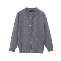 童装2018秋装新款女童毛衣外套儿童针织打底衫羊绒开衫9118