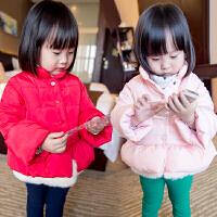 儿童装女童棉衣外套宝宝棉袄小童冬装新款A823 V