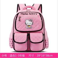 kitty儿童书包小学生一二三四五六年级小朋友女孩KT双肩背包 小号粉色 (布)