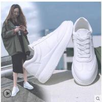 小白鞋女学生内增高女鞋运动休闲鞋新款韩版百搭厚底休闲白鞋