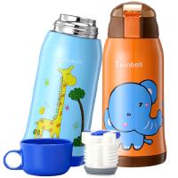 Twinbell幼儿园小学生保温杯带吸管两用防摔宝宝水杯儿童便携水壶