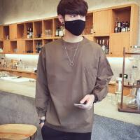 发型师男士韩版宽松套头衬衣男装春季潮流衬衫薄外套潮流