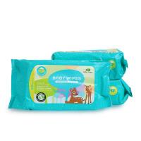 英国小树苗湿巾宝宝手口柔湿巾婴儿湿纸巾儿童手口湿巾80抽*3包装