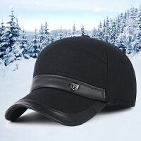 帽子男士秋冬季户外保暖护耳帽中老年加厚棉帽休闲棒球帽