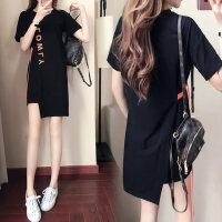 户外运动短袖连衣裙韩版女装显瘦学生纯棉圆领中长款T恤女潮
