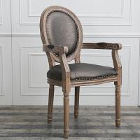 美式复古家具餐桌椅组合现代小户型简约家用实木脚多功能桌子