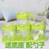 厨房玻璃油壶调料盒盐罐调味罐味精佐料瓶收纳盒油壶调味瓶罐套装 调味盒