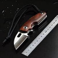spike 户外D2钢折叠刀木柄EDC随身小刀 高硬度口袋刀锋利手工刀水果刀收藏军刀把玩刀D2钢精品刀具