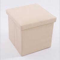 普润 PU皮收纳凳 储物凳 换鞋凳 收纳箱 白色