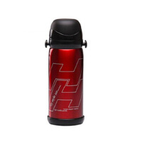 普润(PU RUN) 304不锈钢真空杯 保温杯运动杯旅行保温保冷杯800ML 酒红色