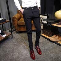 夏季新款男士韩版修身长裤青年发型师时尚简约休闲裤个性帅气潮流