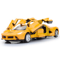 天鹰加长版仿真合金汽车模型4开门回力声光儿童玩具车模