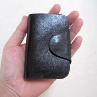 钥匙扣整张牛皮流行男士钥匙包黑棕色 黑色(像黑的深棕)