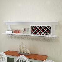 实木壁挂红酒柜餐厅客厅现代时尚简约创意悬挂置物架欧式墙壁酒架