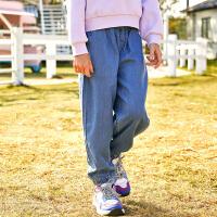 【2件3折价:93】小猪班纳童装男女童牛仔裤夏季新款中大童束脚长裤儿童宽松裤子