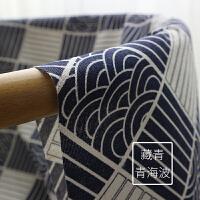 印花棉麻布料和风布料窗帘布料沙发亚麻布料粗麻桌布手工diy布头
