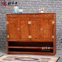鞋柜实木大容量双多层客厅木中式二三四门家用 整装