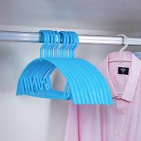 【新品特惠】衣架宿舍用学生衣服架子家用衣撑子挂衣架儿童晒衣架防滑收纳神器 10个