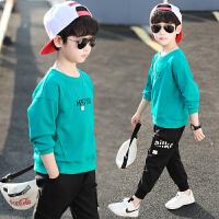 男童卫衣春秋季装2020新款童装儿童中大童套头打底衫上衣韩版