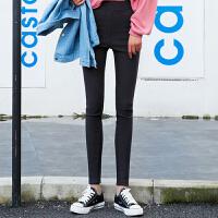 打底裤 女士修身打底裤2020冬季韩版女式小脚九分裤学生时尚高腰铅笔裤裤子