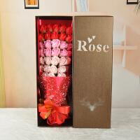 物有物语 香皂花 七夕情人节创意礼物33朵玫瑰香皂花束礼盒花艺送闺蜜情人