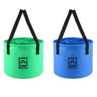 折叠水桶户外 洗车水桶 钓鱼桶500D夹网布12L便携式折叠水桶