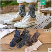 袜子男中筒袜秋冬季保暖加厚长棉袜男士短袜条纹运动袜加厚男袜潮