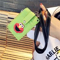 创意多功能卡袋卡包零钱包一体包学生饭卡挂绳公交卡套