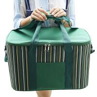 野餐包 34L大号便携外卖保温箱送餐饭盒袋铝箔手提可背保鲜箱野餐篮子p