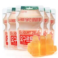 韩国进口零食lotte乐天乳酸菌软糖5包 酸奶味儿童糖果QQ糖橡皮糖