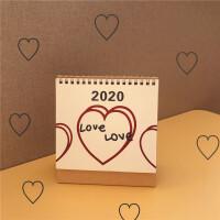 2019到2020年台历韩国ins风简约爱心LOVE桌面日历计划本创意摆件