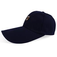 秋冬中老年男士棒球帽加长檐遮阳休闲全棉保暖鸭舌帽
