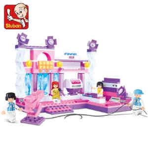 【当当自营】小鲁班粉色梦想女孩系列儿童益智拼装积木玩具 绚丽舞台M38-B0252
