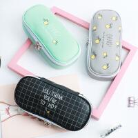 文具盒女韩国创意可爱笔盒简约女生小清新笔袋男大容量初中小学生
